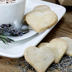 Heart Shortbread Biscuit Box - food & drink