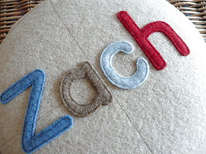 Personalised Merino Children's Cushion - living room