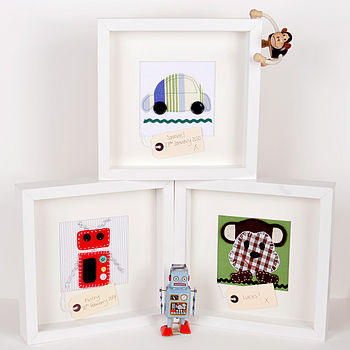 Personalised Car, Robot and Monkey Pictures