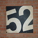 Bold number canvas