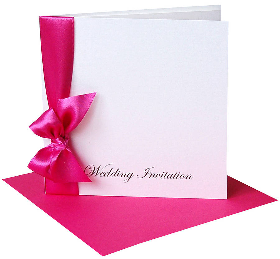 ribbon wedding invitations with envelopes by made with love, Wedding invitations