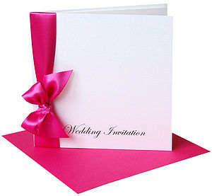 Ribbon Wedding Invitations with envelopes