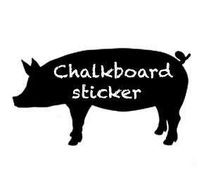 Pig Blackboard Sticker