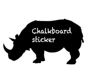 Rhino Blackboard Sticker