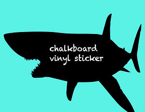Shark Blackboard Sticker
