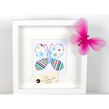 Personalised Flutterby Butterfly Picture