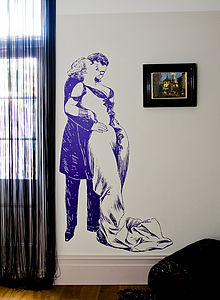 Romantic Couple Wall Sticker - art-lover