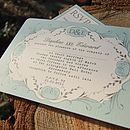 Duck egg wedding invitation