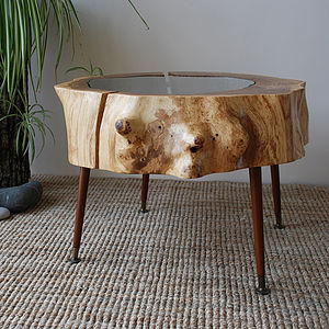 Split Oak Ring Table - furniture