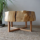 Split oak ring table 5