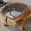 Split oak ring table 7