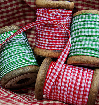 Ribbons: gingham (2m lengths)