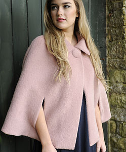 Blush Mohair Cape - jackets & coats