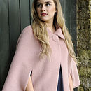 Blush Mohair Cape