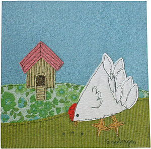 Chickens greetings card