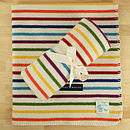 Paintbox multi-stripe lambswool baby blanket unisex