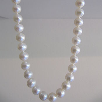 Big And Round Freshwater Pearl Necklace