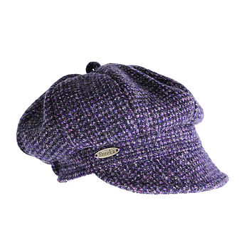 Perth harris tweed cap lavender