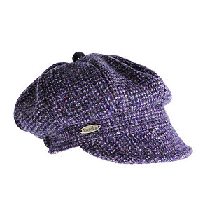 'Perth' Harris Tweed Jockey Cap - hats, scarves & gloves