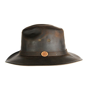 'Valencia' Leather Fedora Hat