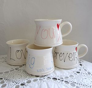 Handmade Personalised Love Mug