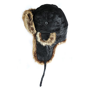 Oslo Leather Trapper Hat - hats, scarves & gloves