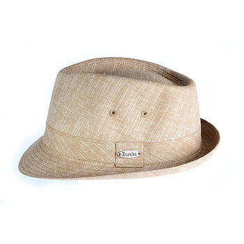 Fulham linen trilby fawn