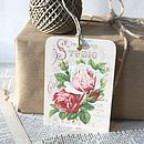 Mixed Set Of Six Rose Gift Tags