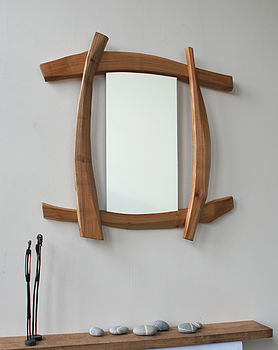 Natural cherry mirror