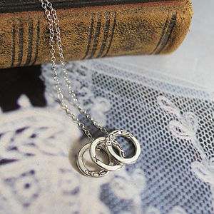 Personalised Three Mini Circle Necklace - necklaces & pendants