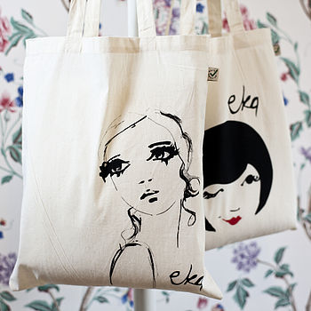 Organic Cotton Bag 'Portrait'