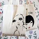 Organic Cotton Bag 'Portrait'