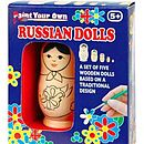 paint your own russian stacking dolls
