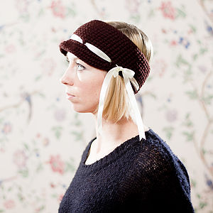 Wimbledon Headband With Ribbon Detail - hats, scarves & gloves