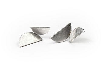 Silver Winged Stud Earrings