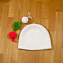 White Bobble Hat with Bobbles