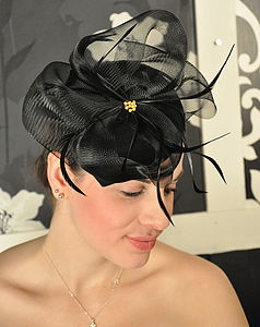 Felt And Crin Headpiece - hats & fascinators