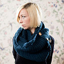 Indigo Blue Cotton Scarf