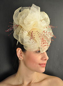 Sinamay Flower Headpiece - hats & fascinators