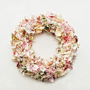 Ditsy Floral Designer Fabric Country Wreath  - wreaths