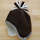 Chocolate Fleece Baby Hat