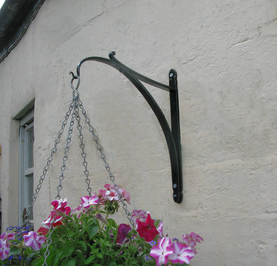 Wrought Iron Hanging Basket Bracket By Ironart Of Bath