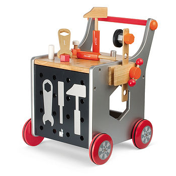 Wooden workbench and Trolley
