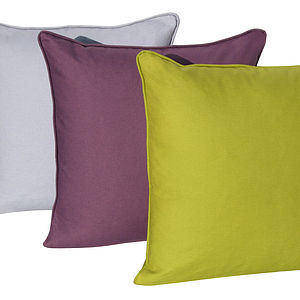 Plain Organic Cotton Cushion - cushions