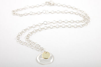 Xilitla In Plain Light Necklace silver and gold