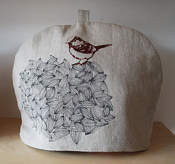 Handmade Tea Cosy Bird On Seeds