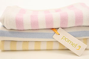Classic Stripe Cashmere Baby Blanket - soft furnishings & accessories