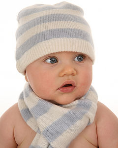 Classic Stripe Cashmere Baby Hat - view all gifts for babies & children