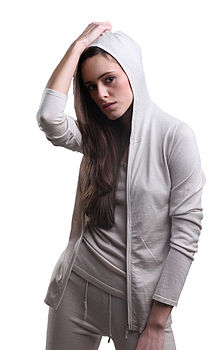 Silk Cashmere Hooded Top