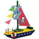 Make & Paint Your Own Pirate Boat Ship